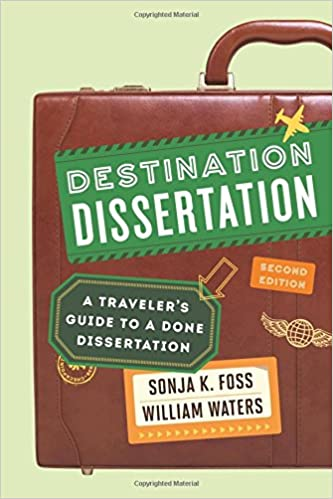 Destination Dissertation Book Cover, a briefcase with the title and authors written on it