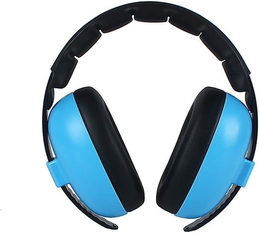 Blue Zchui Headphone Baby Kids Ear Protection Soft Earmuff Portable Outdoor Care Padded Boys Girls Home Gift Travel Adjustable Headband Noise Canceling Wireless