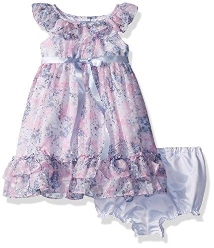 0210698de Laura Ashley London Baby Girls' Ruffle Collar Party Dress, Aqua, 12M ...
