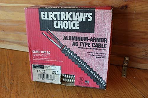 - ELECTRICIANS CHOICE 14/2 ALUMINUM ARMORED CABLE AC TYPE PD-49001 25' BOX