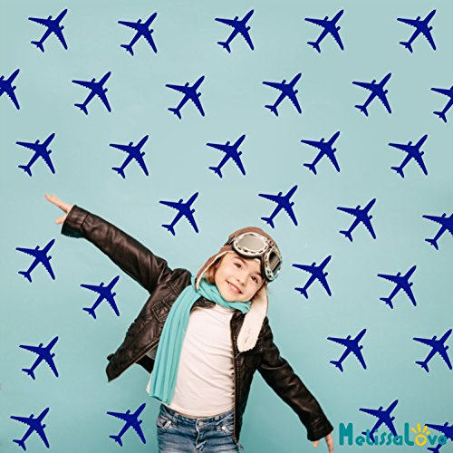Melissalove 24pcs/set Airplane Wall Pattern Wall Decals DIY