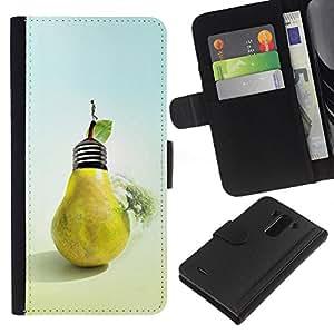 JackGot ( Frutta creativo ) LG G3 la tarjeta de Crédito Slots PU Funda de cuero Monedero caso cubierta de piel