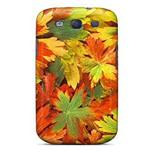 XPqwdWm8029dirFD Tpu Phone Case With Fashionable Look For Galaxy S3 - Fall Leaves