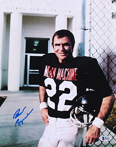 (BURT REYNOLDS SIGNED THE LONGEST YARD 11x14 MEAN MACHINE FOOTBALL UNIFORM PHOTO)