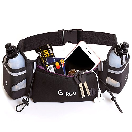 Hydration Belts For Runners - Running Belt - Iphone Belt - Women Running Belt - Men Running Belt - Phones Belt - Hydration Belt - Pack For Running - Running Pouch - Water Belt - Runners Belt - Black Running Belt - Fuel Belt