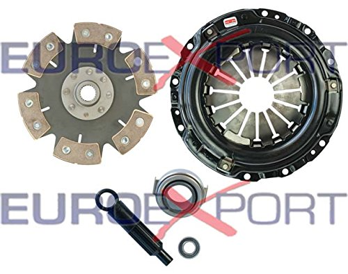 Competition Clutch Disc and Pressure Plate Kit for Honda Acura B16 B18 B20 Ceramic 6 Puck Rigid/Solid Stage 4 8026-0620