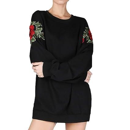 Sudadera para Mujer Sudadera con Capucha Suelta Ocasional Apliques Sudaderas largas Sudaderas con Capucha Blusa Elegante