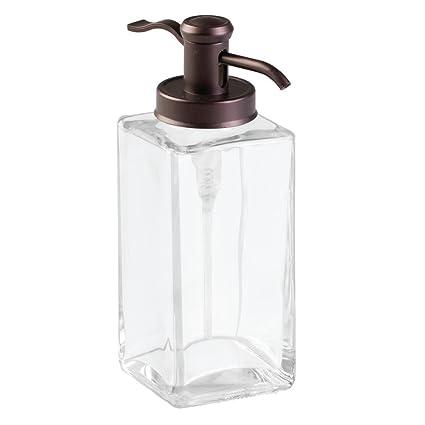 InterDesign - Casilla - Bomba Tradicional de Vidrio, dosificadora de jabón líquido; para Cocina