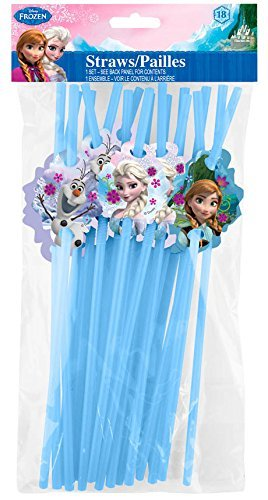 UPD Disney Frozen Character Straws, Multicolor