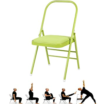 Amazon.com: HMJY Yoga Chair Folding,Metal Portable Yoga ...