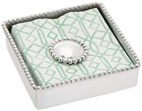 - Mariposa Round Pearl Beaded Napkin Box