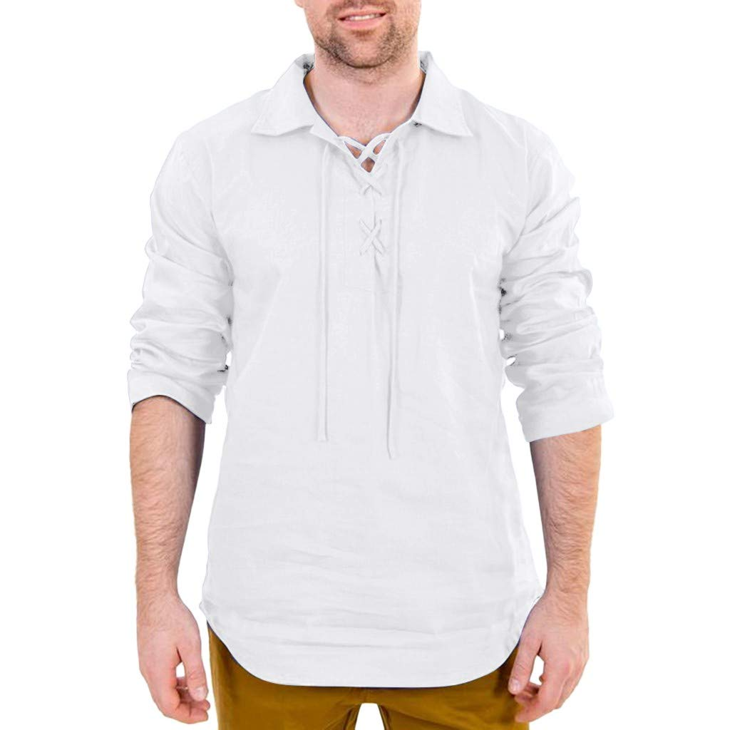 GOVOW Men Short Sleeve Polo Shirt with Pocket Gift