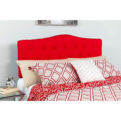 Flash Furniture Cambridge Tufted Upholstered King Size Headboard in Red Fabric (Headboard Buy Tufted)