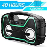 Bluetooth Speakers, AOMAIS 40-Hour Playtime Portable Outdoor/Indoor...