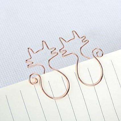 8PCS Cat graffette in metallo file clip confezione Cartoon segnalibro, Golden, 3.5x2.3x1cm Zenguen