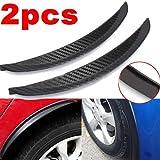 Academyus 1Pair 24.5cm Soft PVC Fender Flares Arch Wheel Eyebrow Guard Kit for Car Truck