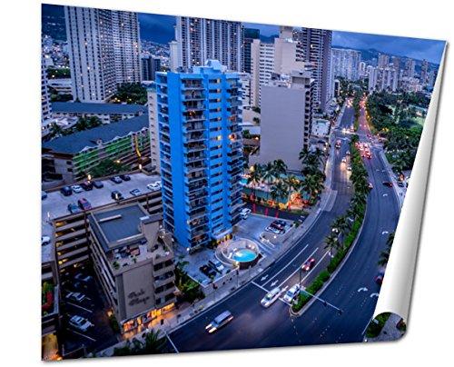 Ashley Giclee Fine Art Print, Ala Moana Boulevard And Honolulu Skyline, 16x20, - Best Moana Buy Ala