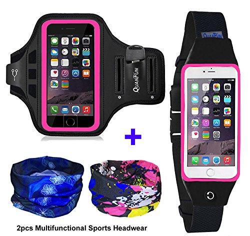 Sports Running Gym Waist Belt Bag Case for iphone 6 Plus 5.5 Black - 1