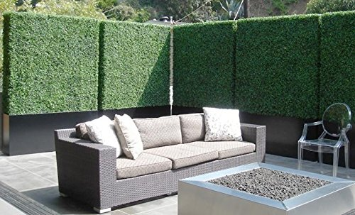 Artificial Boxwood Hedge, privacy hedge screen, UV Protected Faux Greenery Mats, boxwood wall, Suitable for Both Outdoor or Indoor, Garden, Backyard and Home Décor,20 x 20 Inch (12 piece) by Generic (Image #2)