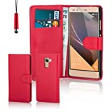 32nd® Book wallet PU leather case cover for Huawei Nexus 6P (2015), including touch stylus - Red