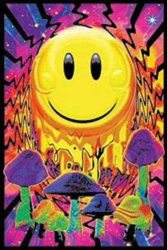 Opticz Have a Nice Trip Flocked Blacklight Poster 23 x 35in]()
