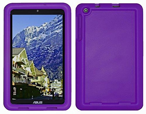 Bobj Rugged Case for ASUS MeMO Pad 8 (ME181C, ME181CX, K011, MG8, MG181C, MG181CX) and ASUS VivoTab 8 (M81C, K01G) - BobjGear Custom Fit - Sound Amplification - Kid Friendly (Playful Purple)