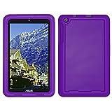Bobj Rugged Case for ASUS MeMO Pad 8 (ME181C, ME181CX, K011, MG8, MG181C, MG181CX) and ASUS VivoTab 8 (M81C, K01G) - BobjGear Protective Tablet Cover (Playful Purple)