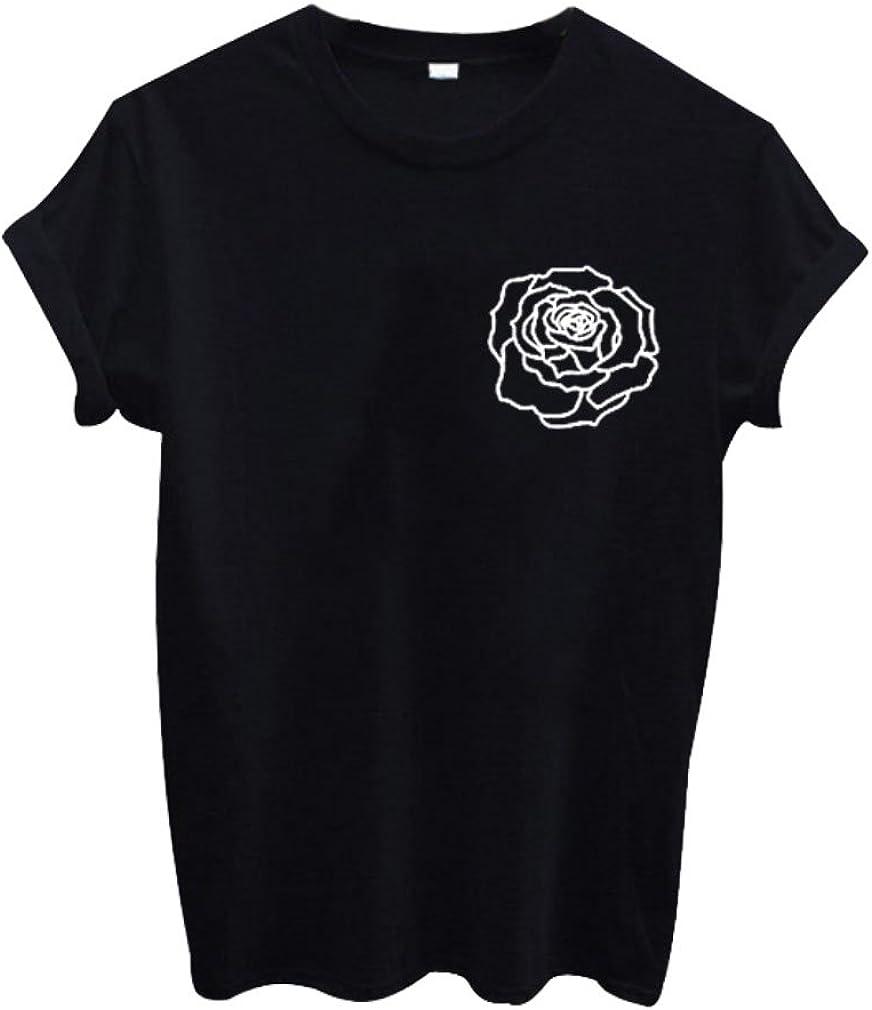Takra Gold Harajuku Fashion Kawaii Rose Print Cute Tumblr Shirts For Teen Girls At Amazon Women S Clothing Store