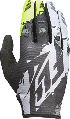 Fly Kinetic Gloves - Fly Racing Unisex-Adult Kinetic Gloves (Black/Hi-Vis, XXX-Large)