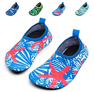 Giotto Kids Swim Water Shoes Quick Dry Non-Slip for Boys & Girls, G015F-Pink, 32-33