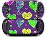 Crazy Hearts - Decal Style Skin fits Sony PS Vita