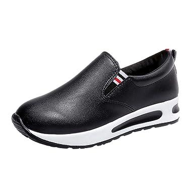 7a7bbcddd4dd5 Yesmile Zapatos de mujer❤️Zapatos Botas Planas Gruesas para Mujer con  Cordones Slip On Botines Zapatos Deportivos Informales de Plataforma  Amazon .es  ...