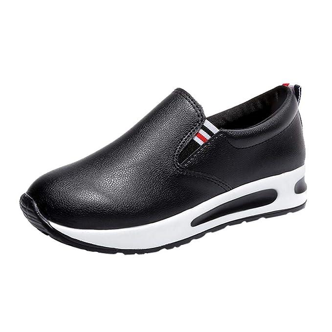Yesmile Zapatos de mujer❤️Zapatos Botas Planas Gruesas para Mujer con Cordones Slip On Botines Zapatos Deportivos Informales de Plataforma: Amazon.es: ...
