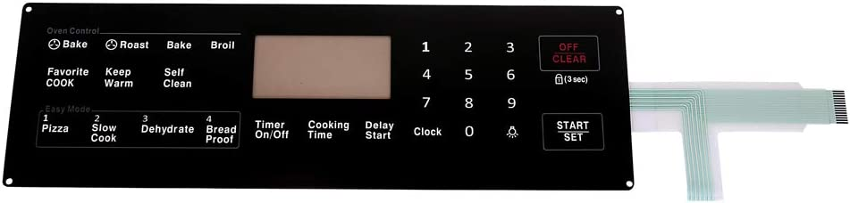 Superunner Membrane Switch Touchpad DG34-00027B Compatible with NX58H5600SS/AA-00,NX58J5600SG/AA-00,NX58F5700WS/AA-03.Also Compatible with Samsung Range Oven