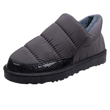 Botas,ZARLLE Botas de Invierno Cortas Fur Aire Libre Boots Botines Niños Invierno Botines Ante Anti-Deslizante Zapatos Calentar Botas, Zapatos de algodón ...