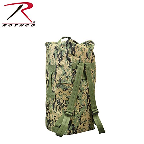 Gi Type Double Strap Duffle Bag, Woodland Digital