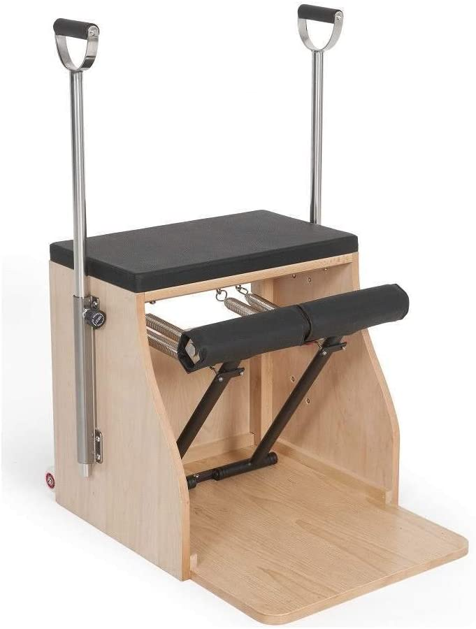 ELINA PILATES Elite Wood Stability Chair with Handles