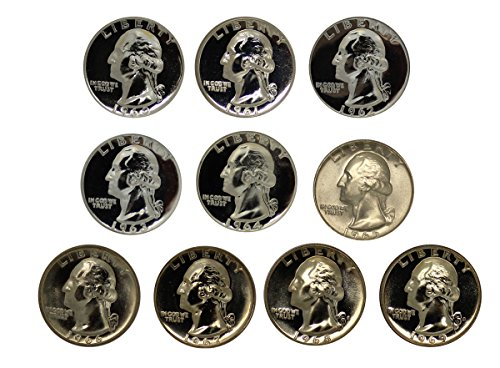 1960 Various Mint Marks Washington 1960-1969 Proof 1967 Quarter