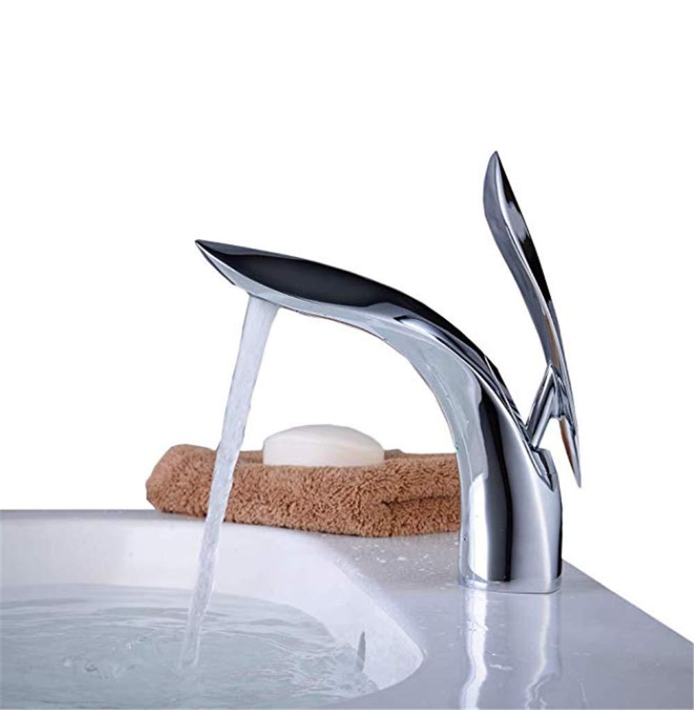 Edelstahl Einhand Mischer Einhebel Wasserhähne Moderne Bad Waschtischarmatur Einlochmontage Einhandgriff