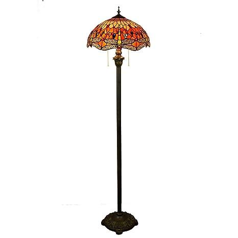 ZIXUAA Lámpara de pie Tiffany, Sala de Estar, Dormitorio ...