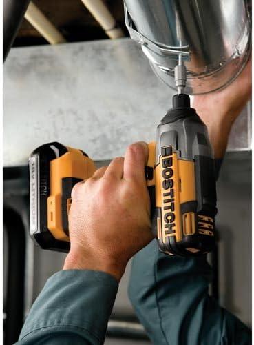 BOSTITCH BTC440LB 18V Lithium 1//4-Inch Hex Chuck Impact Driver Kit