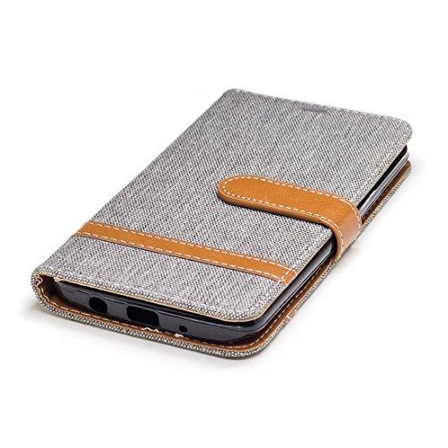 Case Fonction En Fentes Cas Téléphone Grau Denim Cartes Bookstyle Lg De Case Flip Mobile Stand K7 Cuir Étui Hozor Pour K8 Portefeuille Protection Avec Couverture Pliable wBOqXTH