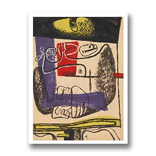 Poster de arte cubista Vintage con impresion en lienzo de arte de Le Corbusier de Le Corbusier, reproducciones de pintura cubista, imagen, decoracion para sala de estar (V-616) 50X70CM No f