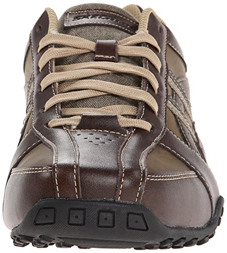 Skechers USA Men's Citywalk Malton Oxford Sneaker,Brown,14 M US
