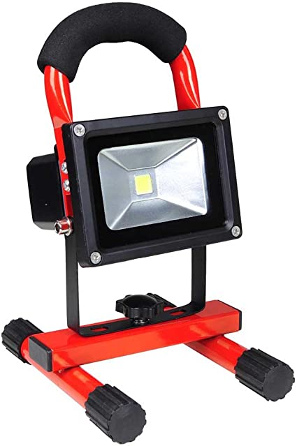 10W Portable Work Light Rechargeable LED Flood Spot Camping Hiking Lamp~