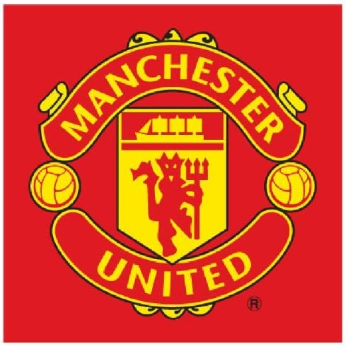 Amazon Com Manchester United Logo Red Face Cloth Towel Flannel Home Kitchen