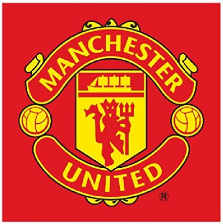 amazon com manchester united logo red face cloth towel flannel home kitchen manchester united logo red face cloth towel flannel