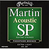 Martin MSP4000 SP Phosphor Bronze Acoustic Guitar Strings, Extra Light