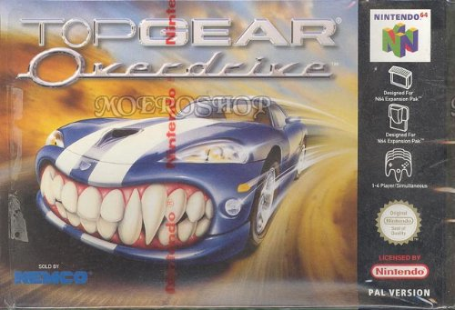 Amazon top gear overdrive nintendo 64 video games top gear overdrive nintendo 64 sciox Image collections