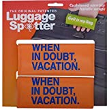 Luggage Spotter Buy ONE GET ONE Free (Orange) When in Doubt Vacation Luggage Locator/Handle Grip/Luggage Grip/Travel Bag Tag/Luggage Handle Wrap (4 Pack) – Great Gift!